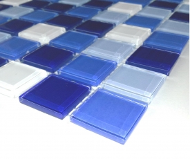 1m² Crystal Glasmosaik Blau-Mix 4mm